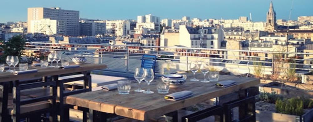 le premier rooftop parisien resto bars my little paris. Black Bedroom Furniture Sets. Home Design Ideas